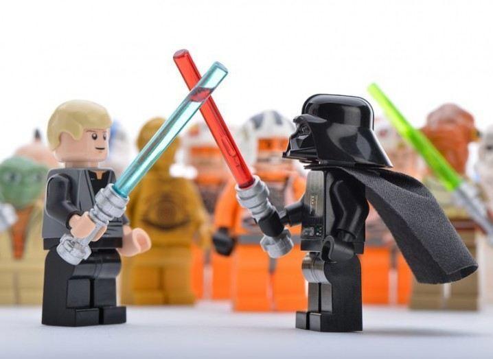 Lightsaber: Luke and Darth Vader lego