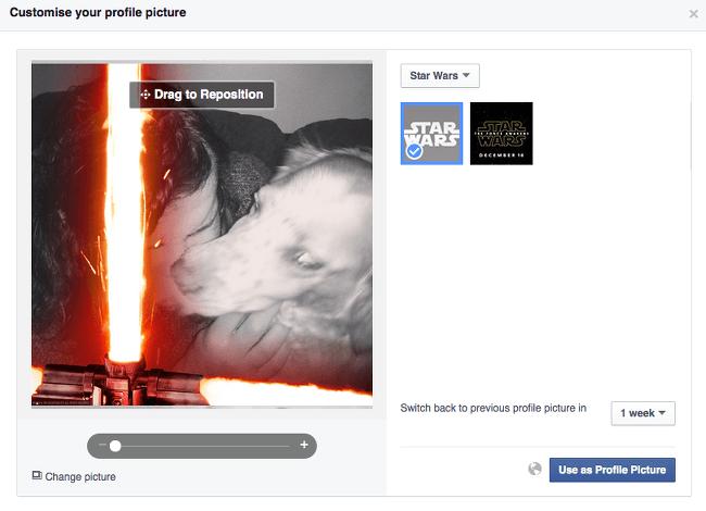 Star Wars: The Force Awakens lightsaber on Facebook
