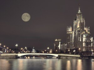 Moon above Moscow