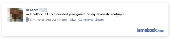 New Year Facebook fails