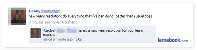 New Year Facebook fail