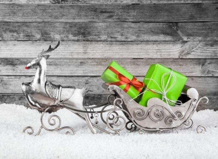 Rudolph silver ornament