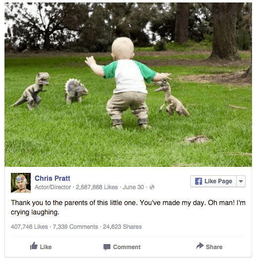 Chris Pratt on Facebook
