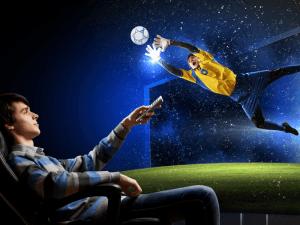 Setanta: person watching sports