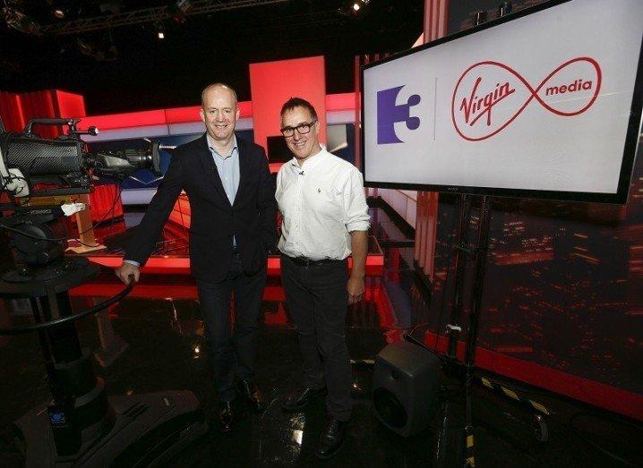 Virgin Media CEO Tony Hanway with TV3 CEO David McRedmond