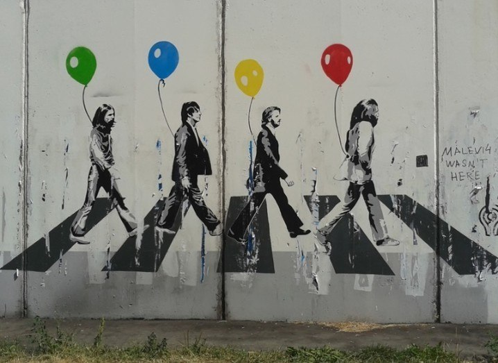 Beatles graffiti