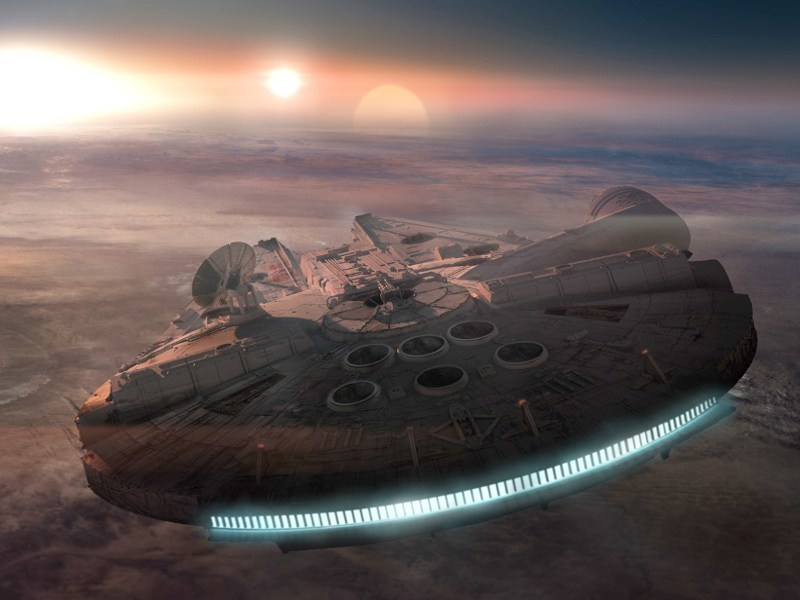 Just how big is the Star Wars Millennium Falcon meant to be?