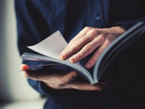 Best books for business: business person reading book