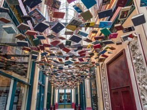 Non-fiction books: floating books in London