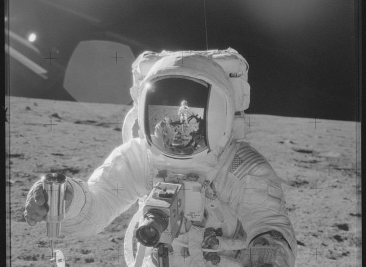 ESA: Astronaut on the surface of the moon, Project Apollo Archive