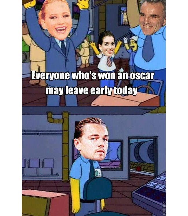 Oscar: Leo in the Simpsons