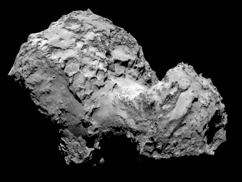 Rosetta finds water ice on Comet 67p