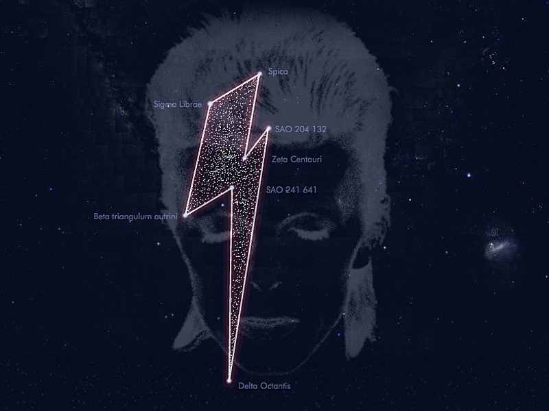 Starman David Bowie celebrated in the stars [updated]