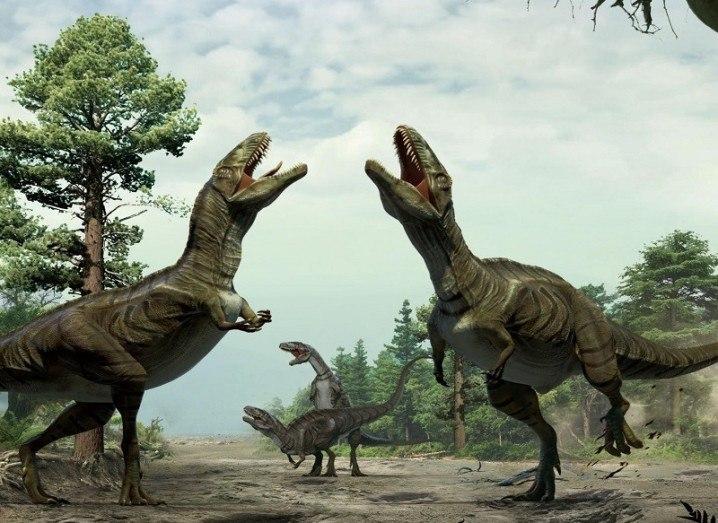 Dinosaur mating ritual