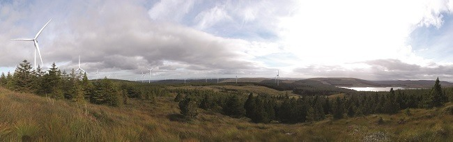 Galway Wind Park panorama