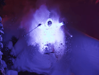 Skiing in LED suits can be cinematically profound and beautiful (video)