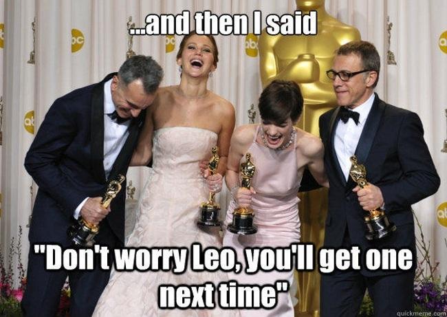 Oscar: Jennifer Lawrence jokes about Leo's lack of Oscar
