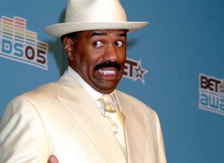 Steve Harvey, who made the gaffe at Miss Universe