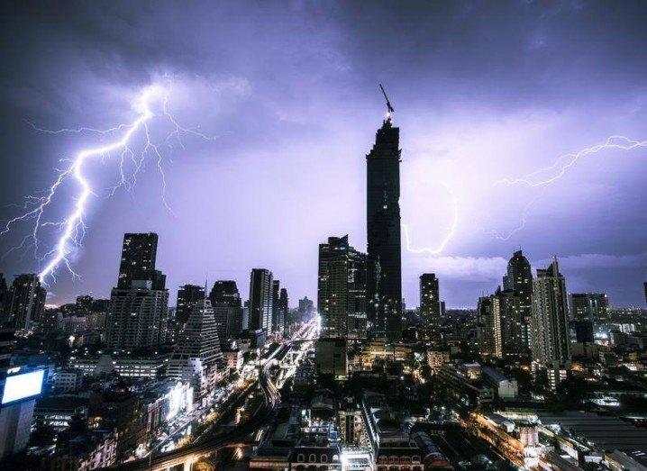 Tim Peake lightning