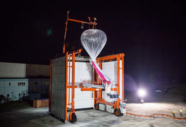 Project Loon at night