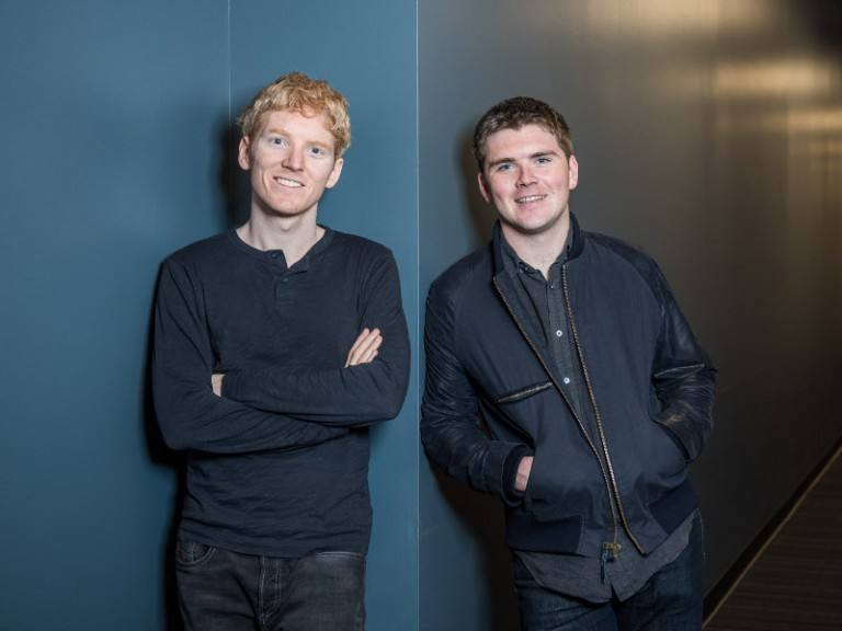 Irish brothers Patrick and John Collison, founders of fintech unicorn Stripe