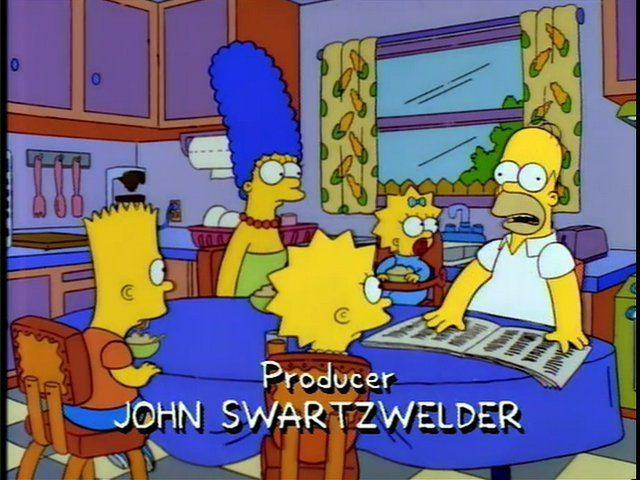 Simpsons newspaper
