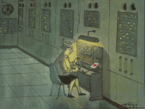 1961 Charles Addams cartoon inspires belated Valentine to women pioneers of computing