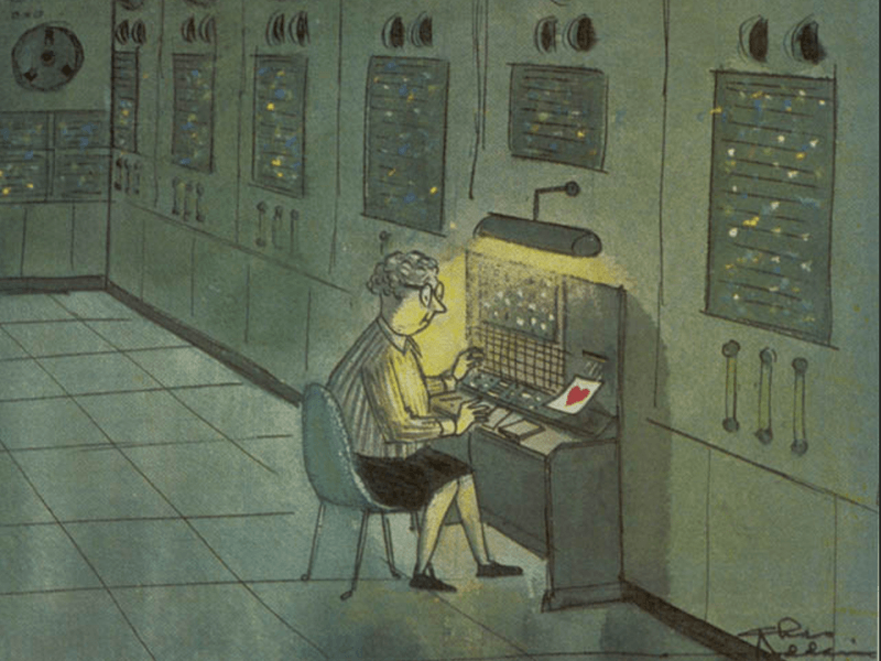1961 Charles Addams cartoon inspires belated Valentine to women pioneers of computing