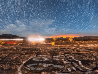 Watch a meteorite explode over Route 66 in the Mojave Desert (video)