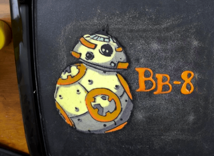 Yes, that is a Star Wars BB-8 pancake
