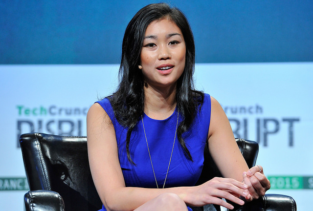 Tracy Chou onstage at TechCrunch Disrupt last year. Image via Flickr/TechCrunch