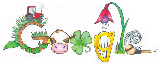 Mia Buckley's winning doodle, called 'Ireland is a land so green'