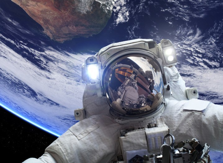 Astronaught zero gravity