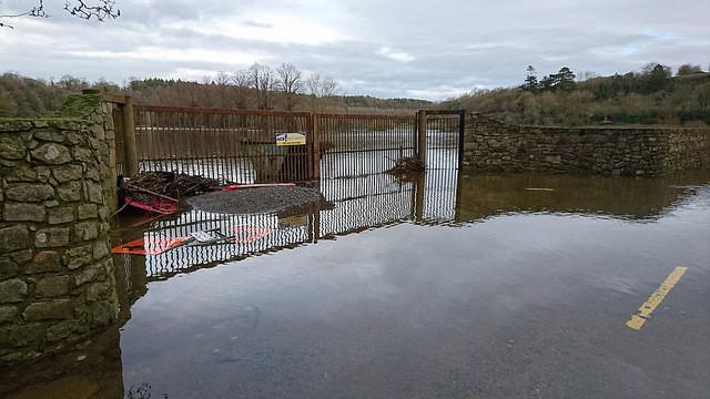 Flooded signage