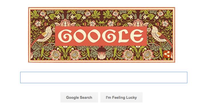 Google Doodle William Morris