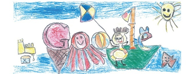 Mia Buckley's winning doodle, called 'Ireland is a land so green' Harry Kane's winning doodle, called 'My Perfect Day'