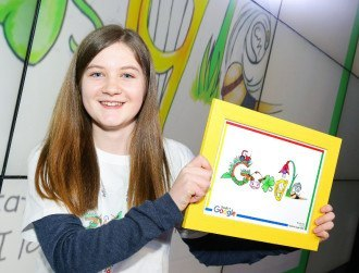 Irish girl's drawing celebrated by Google on Easter Monday