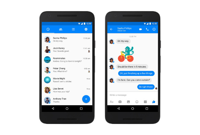 New Messenger material design