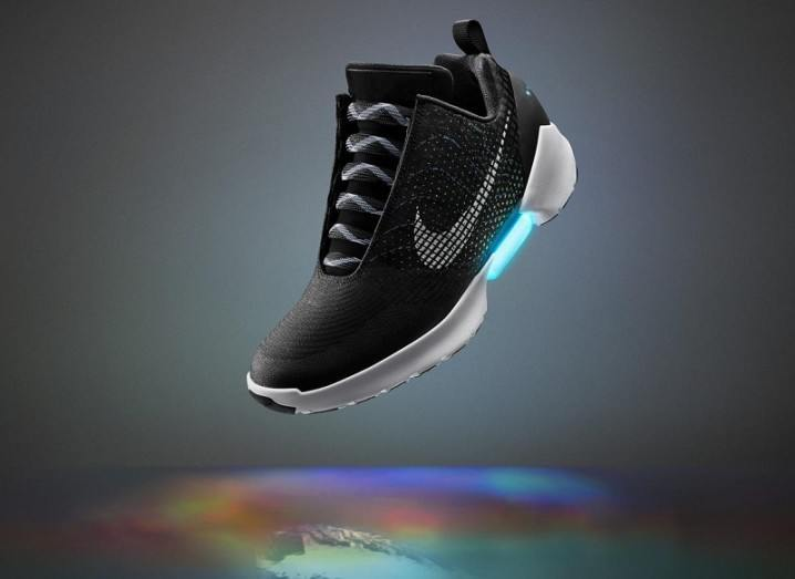 Nike self-tying shoe