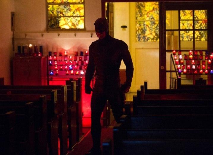 Daredevil's Charlie Cox in new costume (production still)