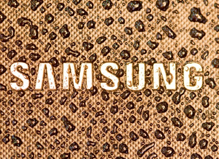 Samsung logo on device