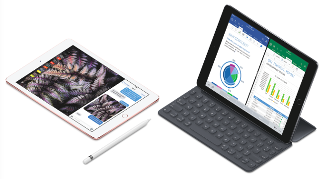 New 9.7-inch iPad Pro with Smart Keyboard and Apple Pencil