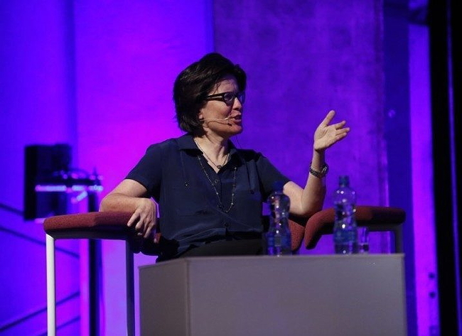 Re/Code's Kara Swisher onstage at Inspirefest 2015. Image via Conor McCabe Photography