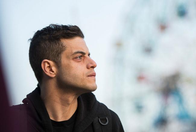 Rami Malek in scene from Mr Robot