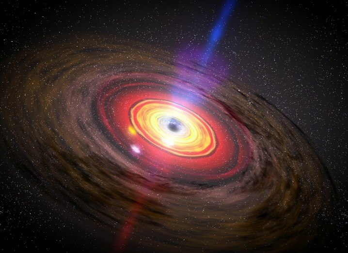 Illustration of matter circling a black hole. Image via NASA/ESA