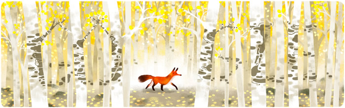 Forest and Red Fox Earth Day