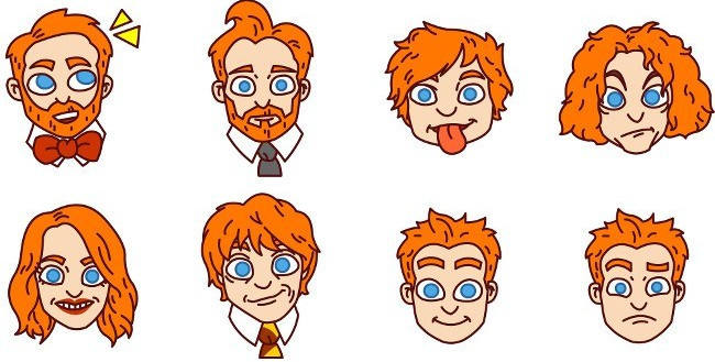 Ginger Emoji Range