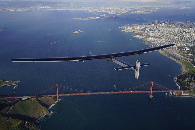 Solar Impulse 2 Golden Gate Bridge