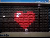 160 Logitech gaming keyboards, plus time, equals pixel madness