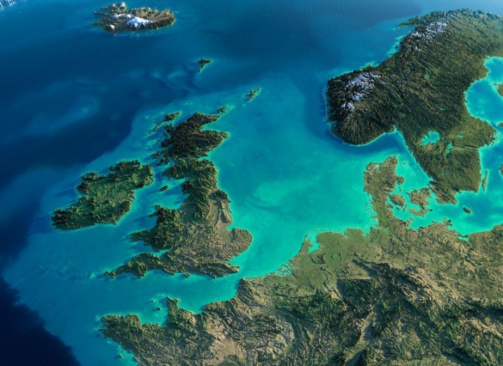 Ireland and UK from space